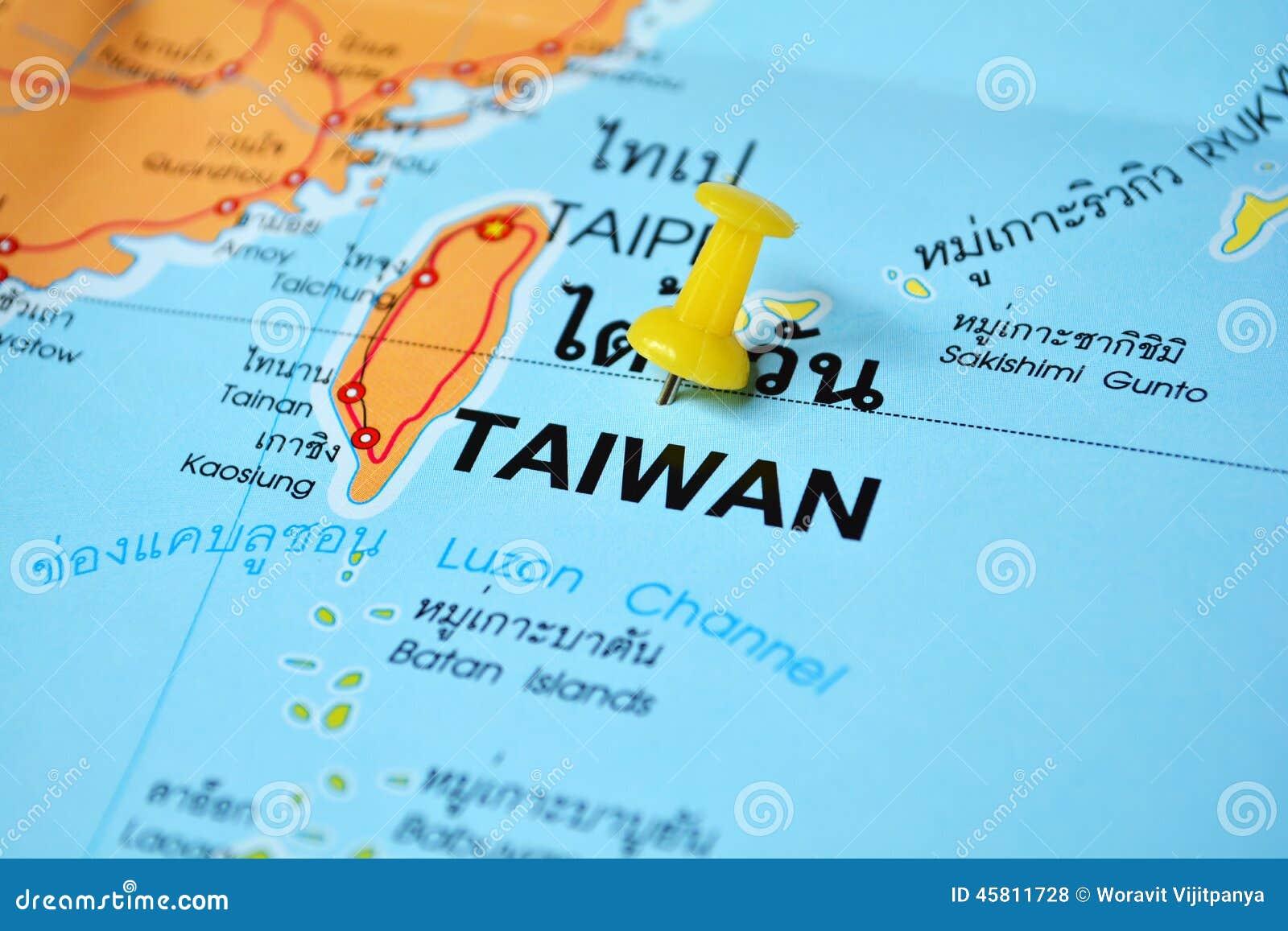 De kaart van Taiwan