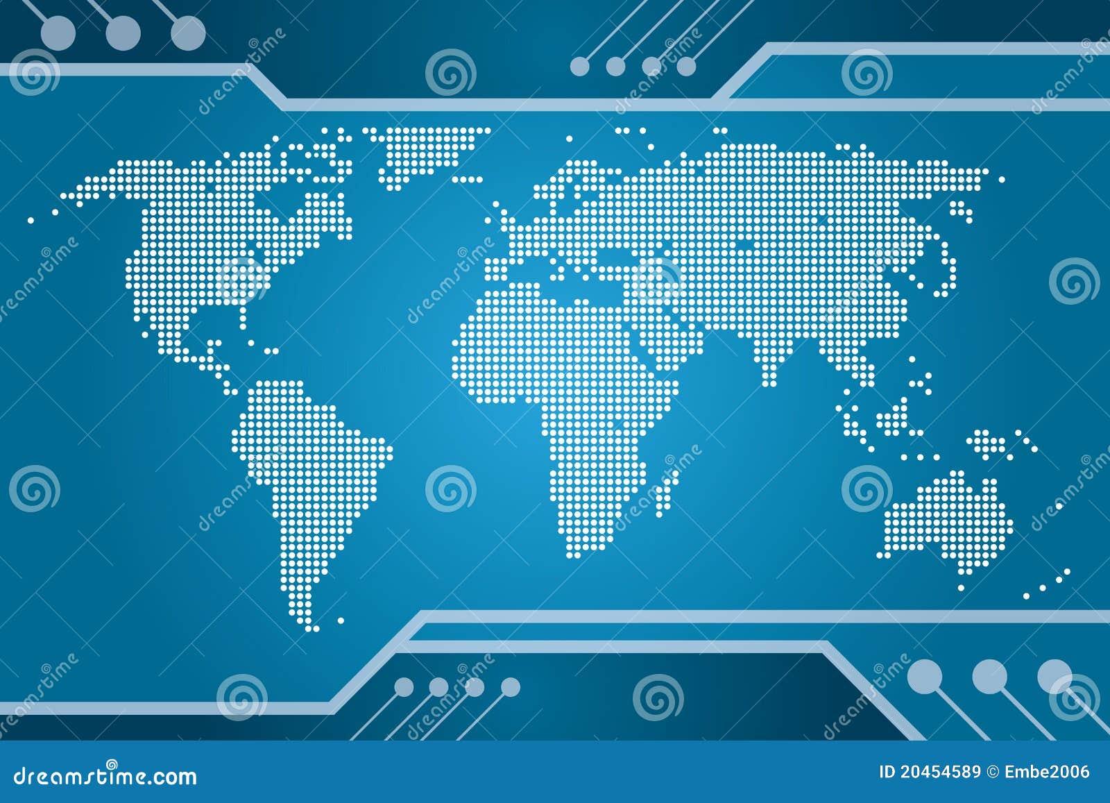 De Kaart van Technologie van de wereld