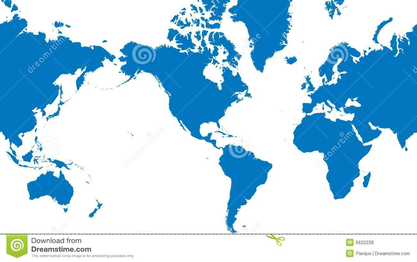 De kaart vectorillustratie van de wereld