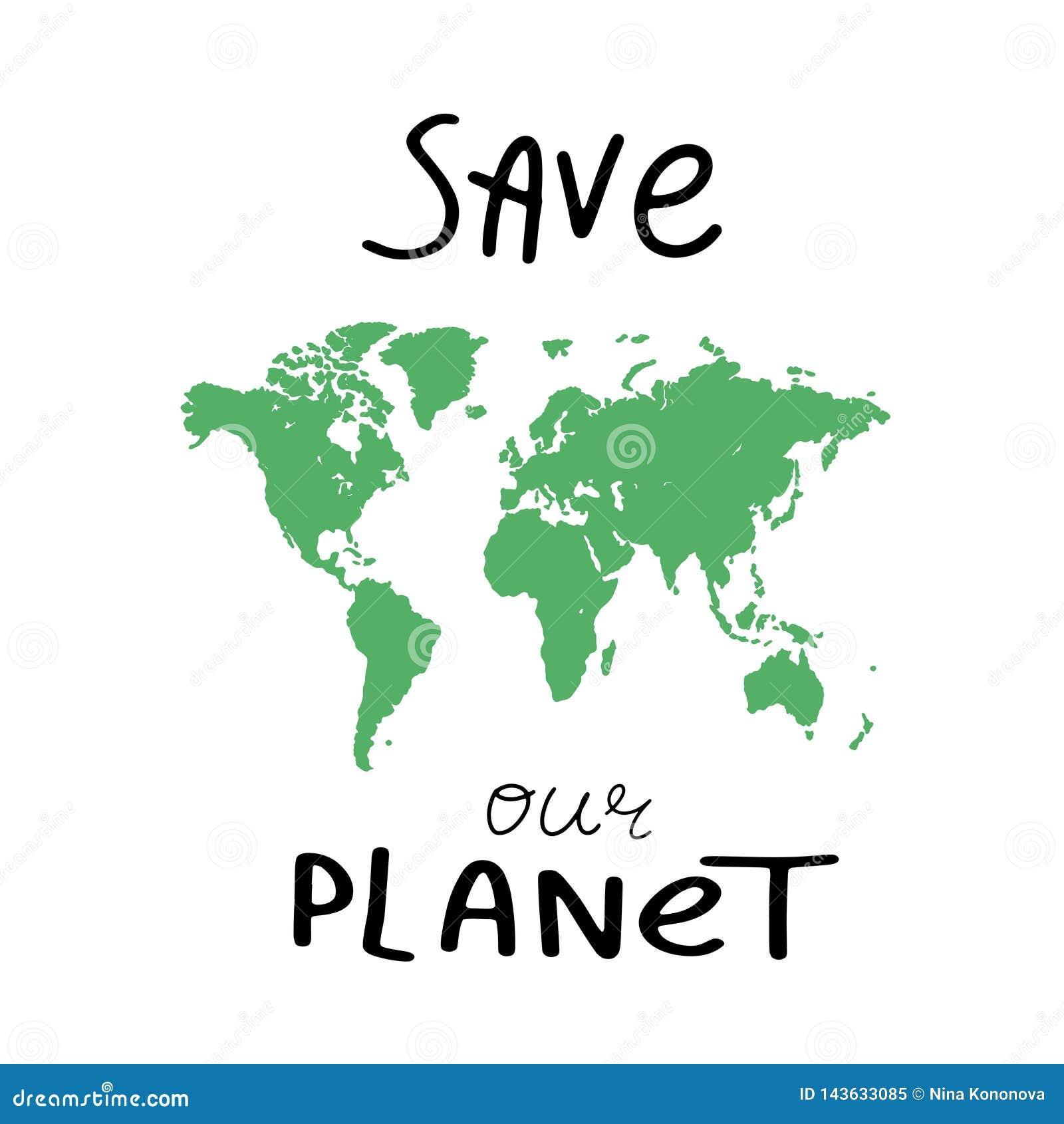 De kaartachtergrond van de wereld Grungeillustratie van de kaart van de silhouettenwereld Groene lege vectorwereldkaart Sparen on
