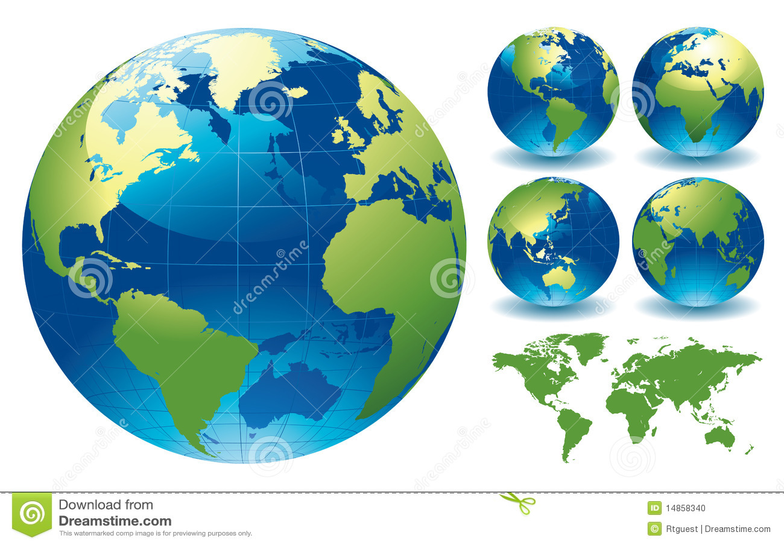 De Kaarten van de Bol van de wereld