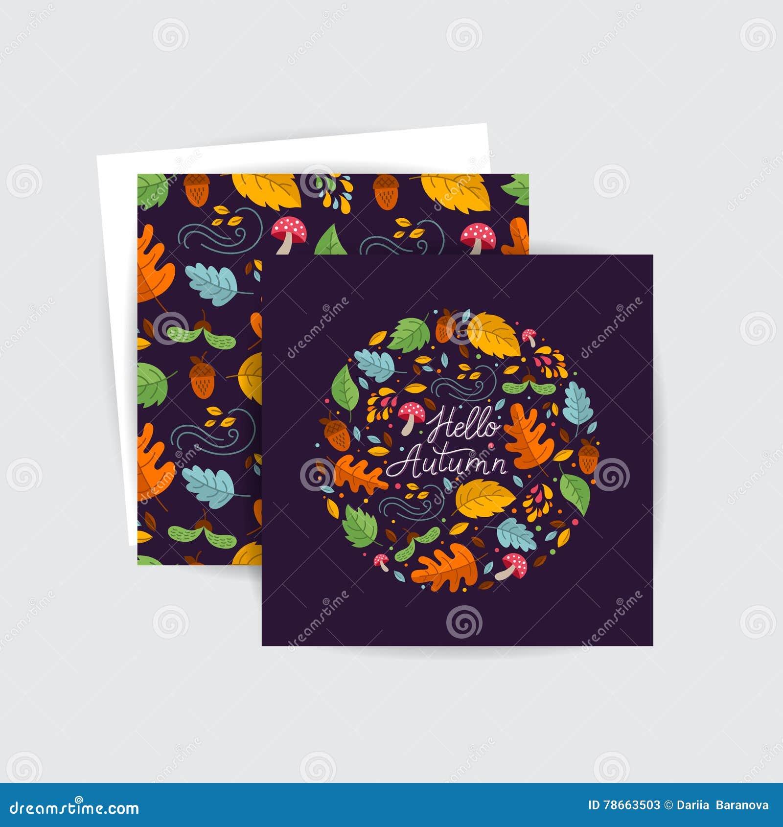 De kaarten van de de herfstgroet