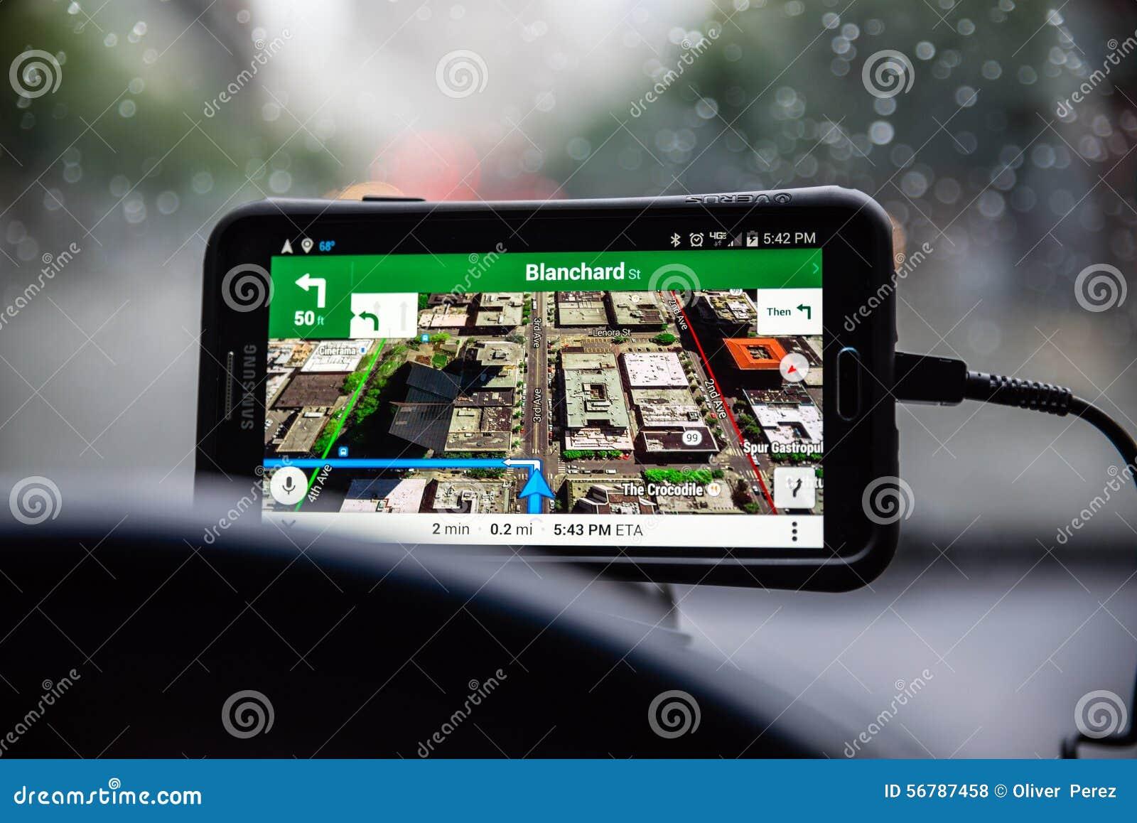 De kaarten van Google