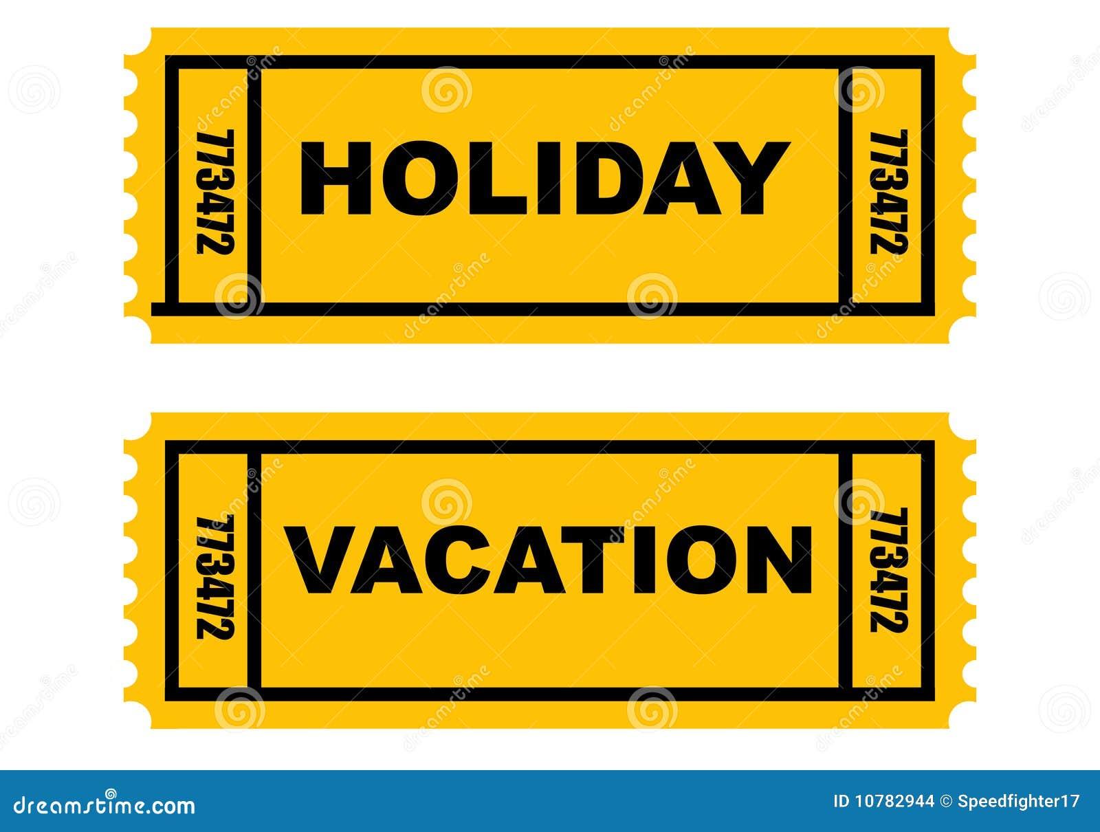 De kaartjes van de Vakantie van de vakantie