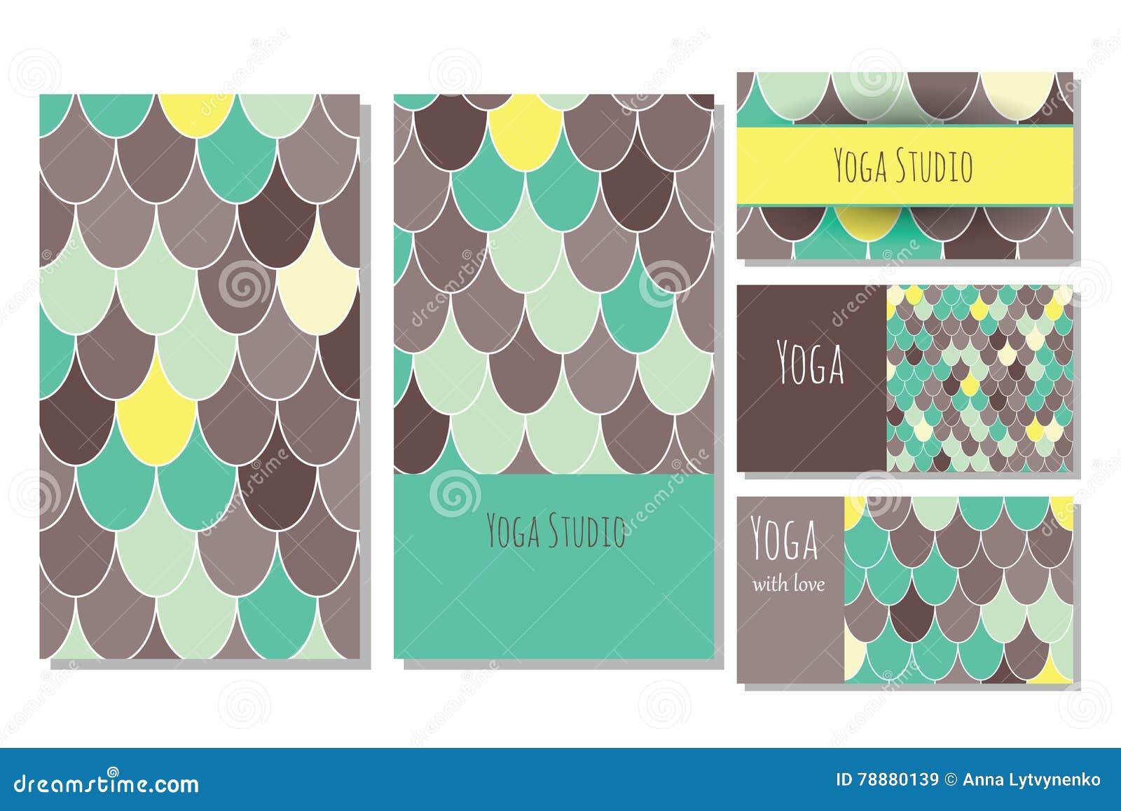 De kaartmalplaatje van de yogastudio
