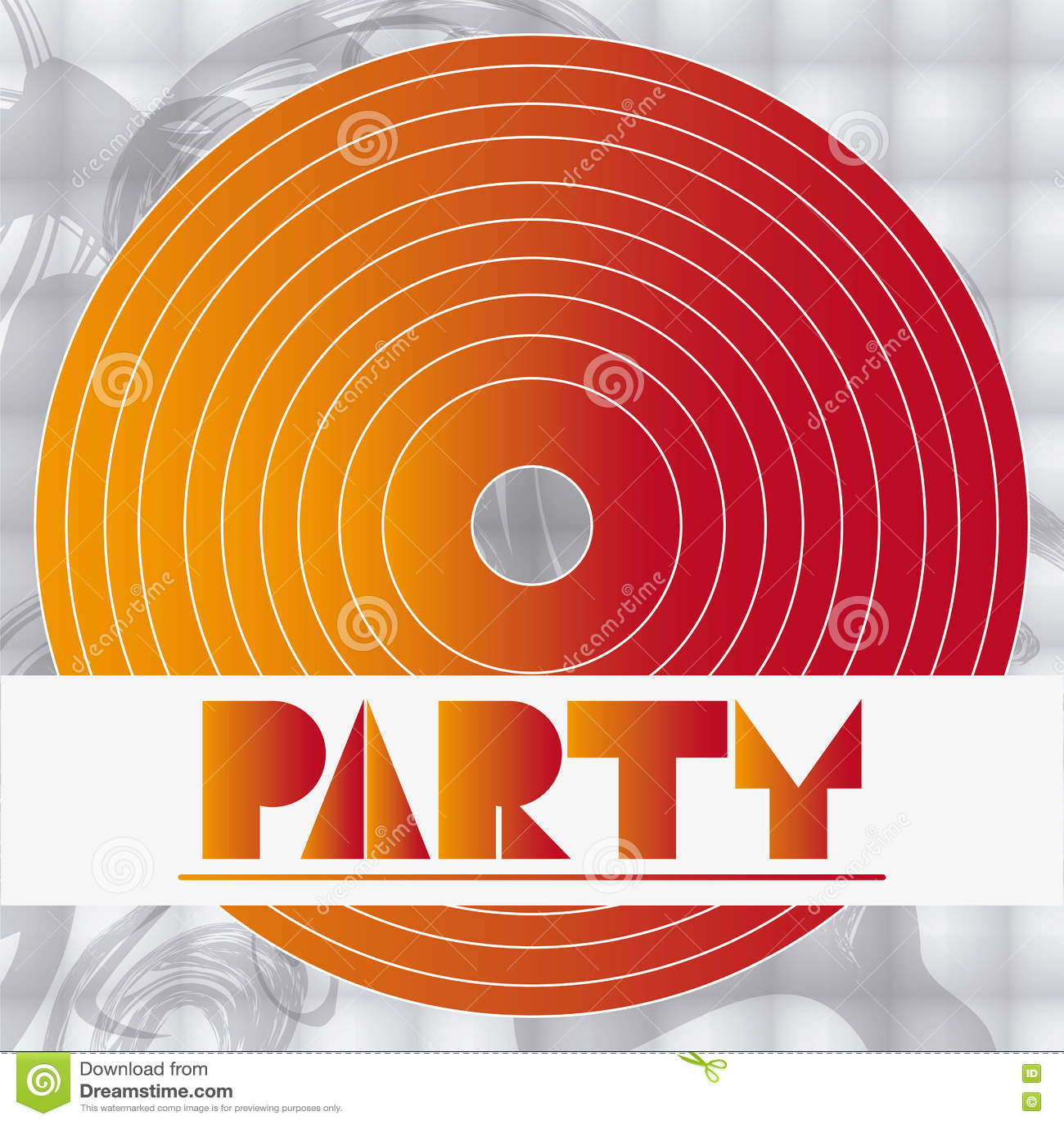 De kaartontwerp van de partijdisco