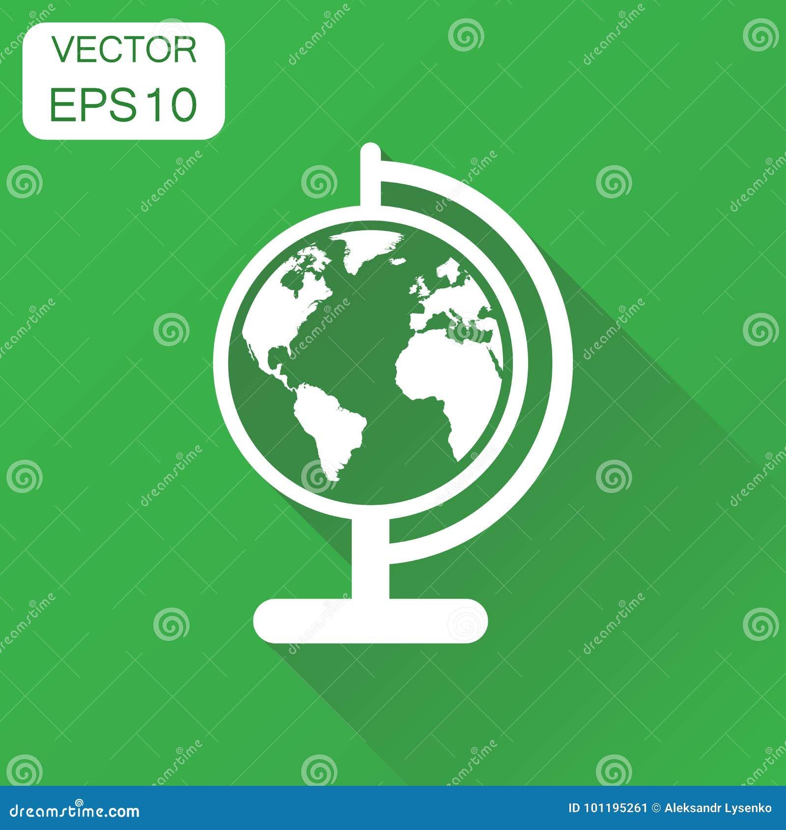 De kaartpictogram van de bolwereld Bedrijfsconcept om aardepictogram Ve