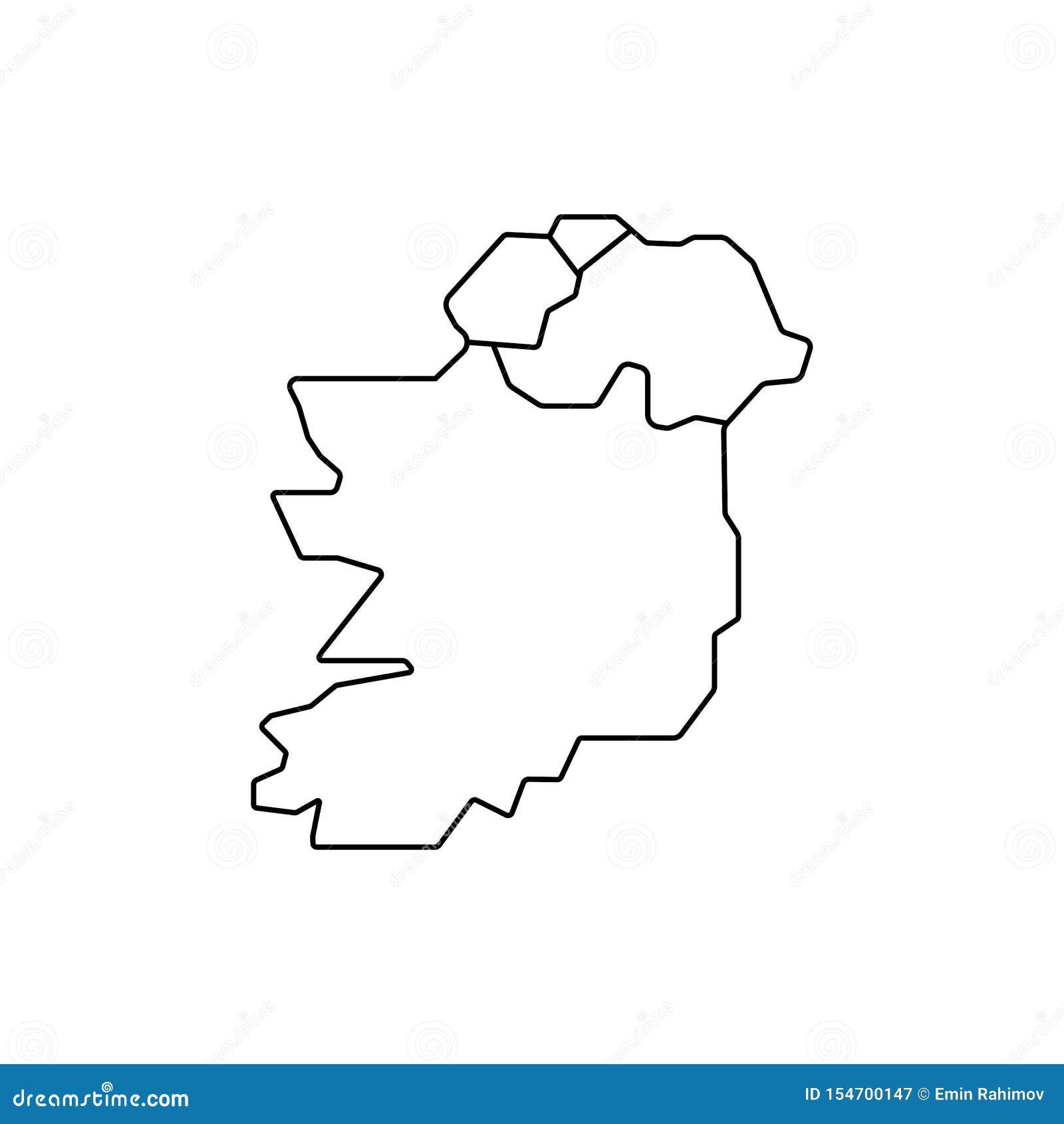 De kaartteken van Ierland Eenvoudig pictogram