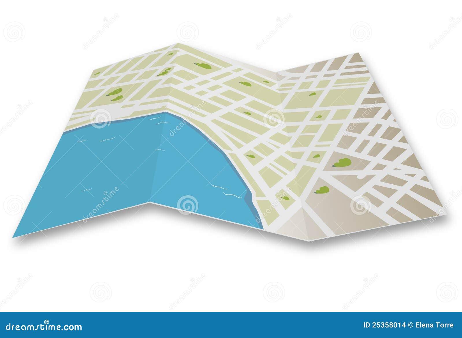 De kaartvector van de stad
