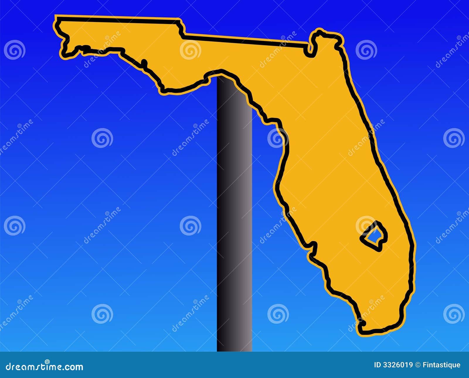 De kaartwaarschuwingssein van Florida
