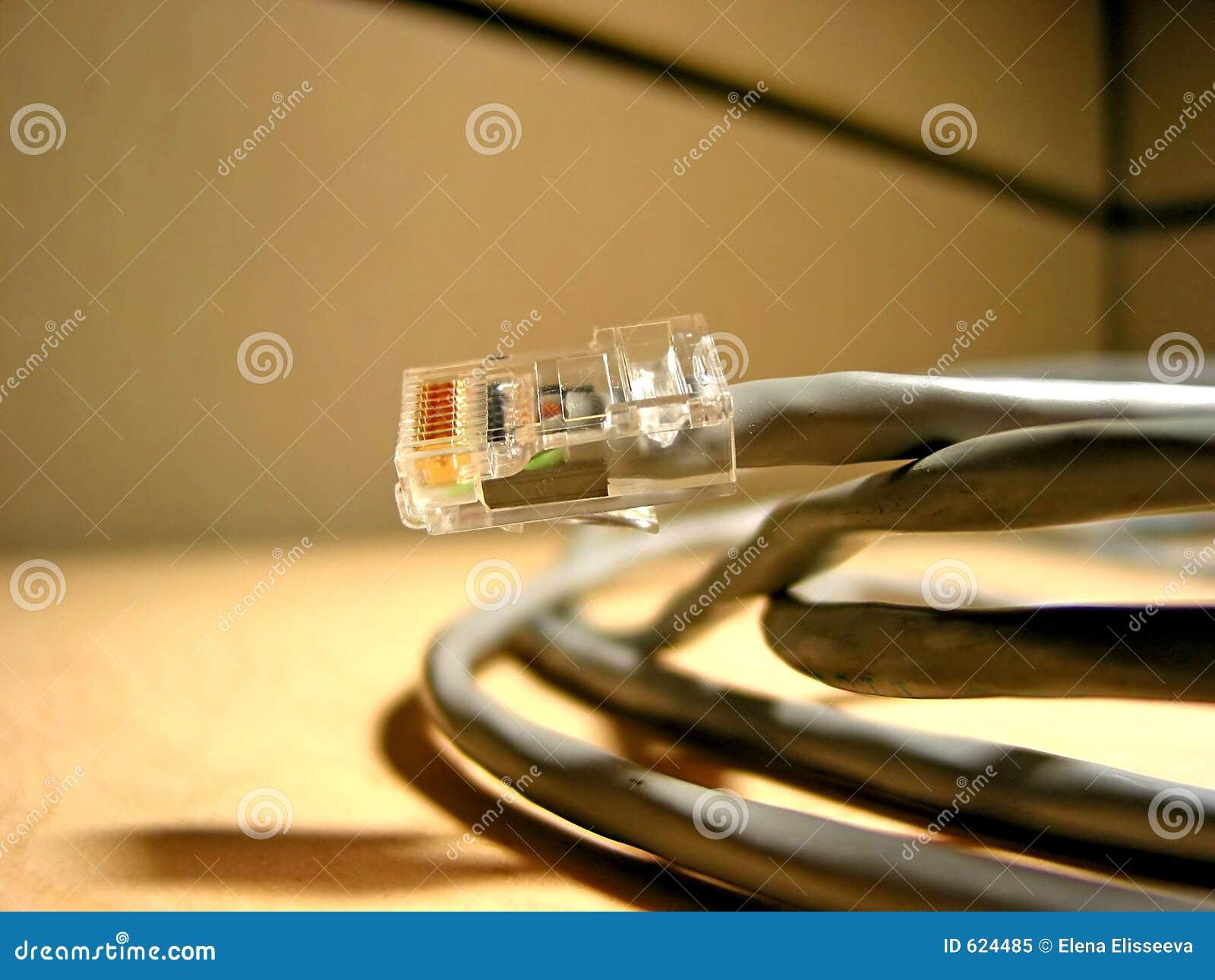 De kabel van Internet closup