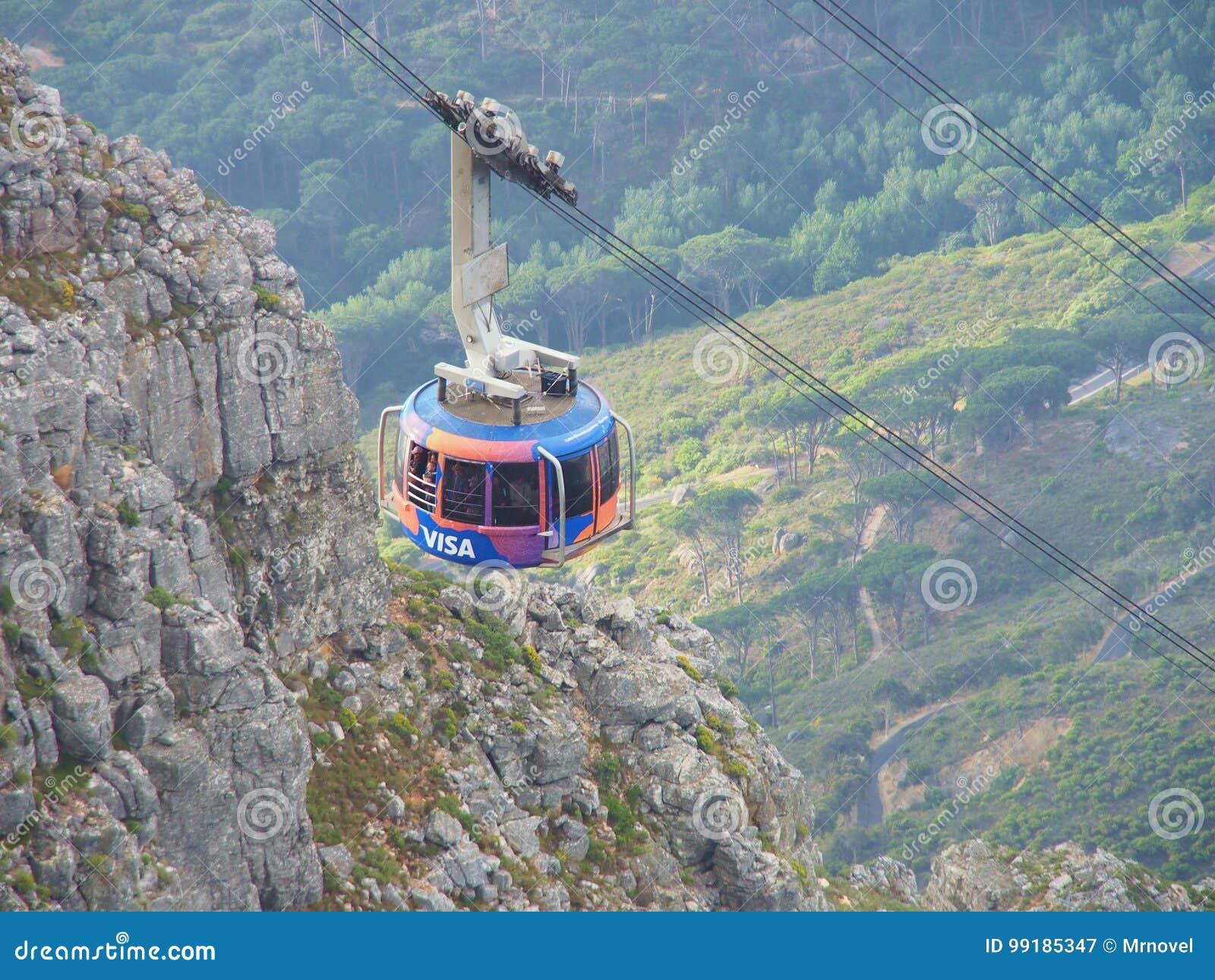 De kabelwagen brengt vele toeristen tot de Lijstberg Nationaal Park