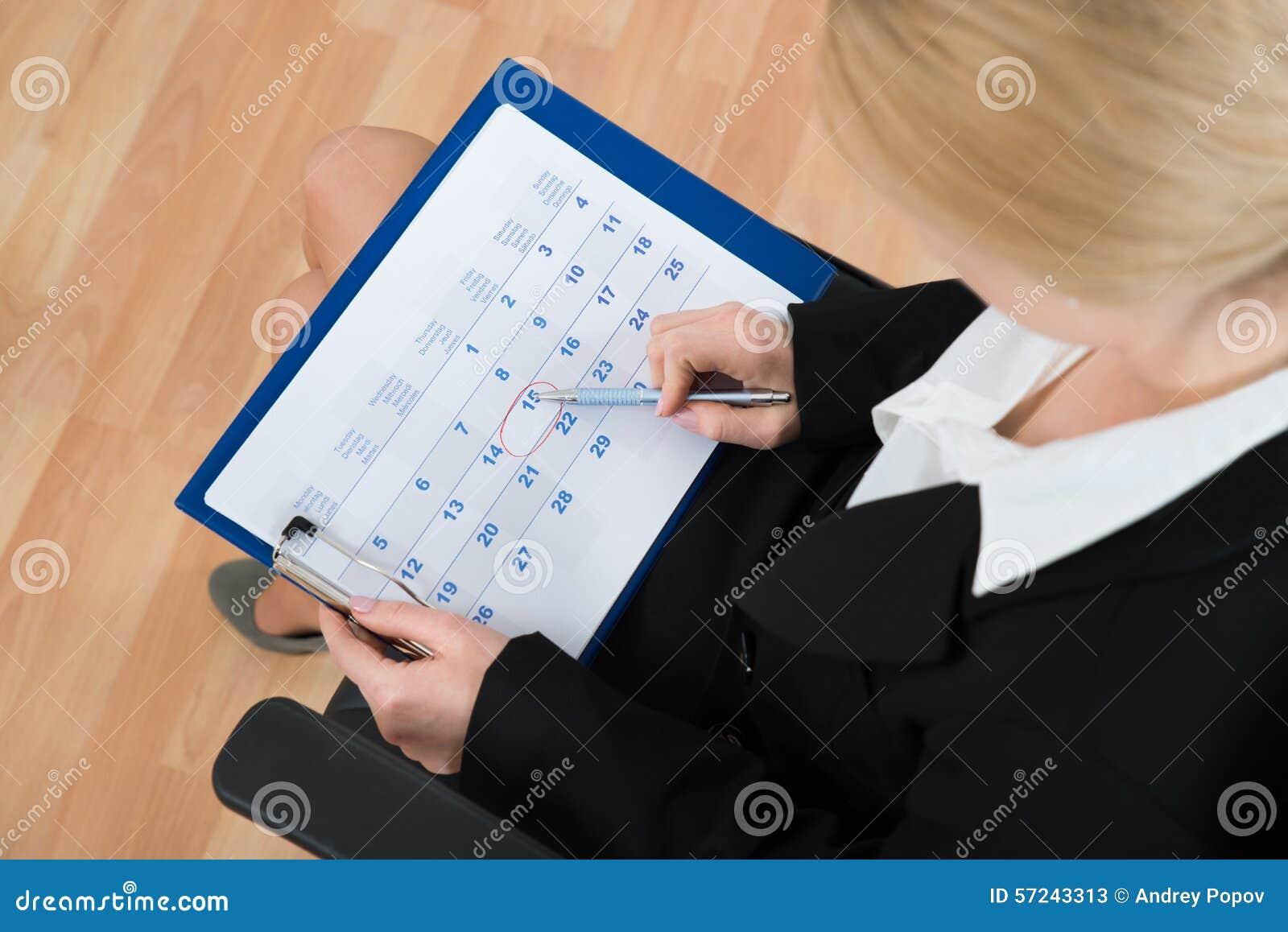 De Kalender van onderneemstermarking date on