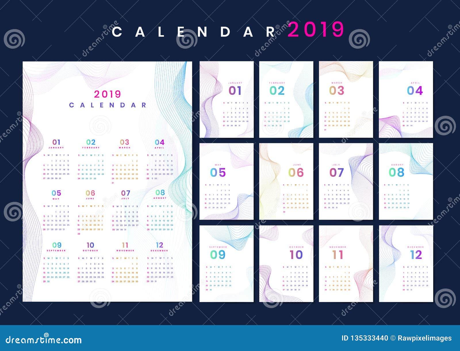 De kalendermodel van het contourontwerp