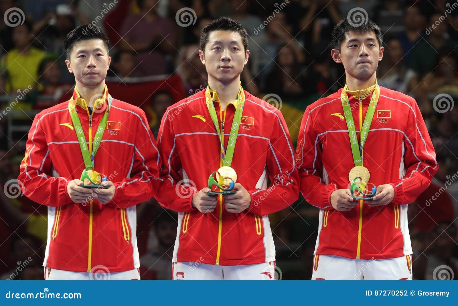 De Kampioen van het teamolymic van China bij de Olympische Spelen in Rio 2016