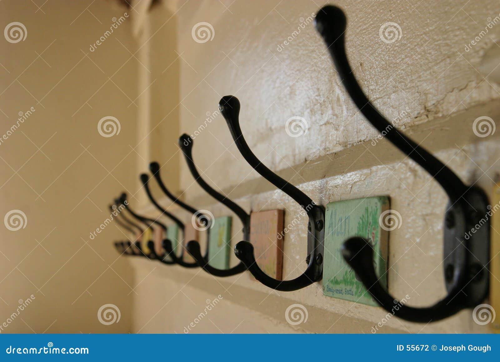 De Kapstokken van de school (selectieve nadruk)