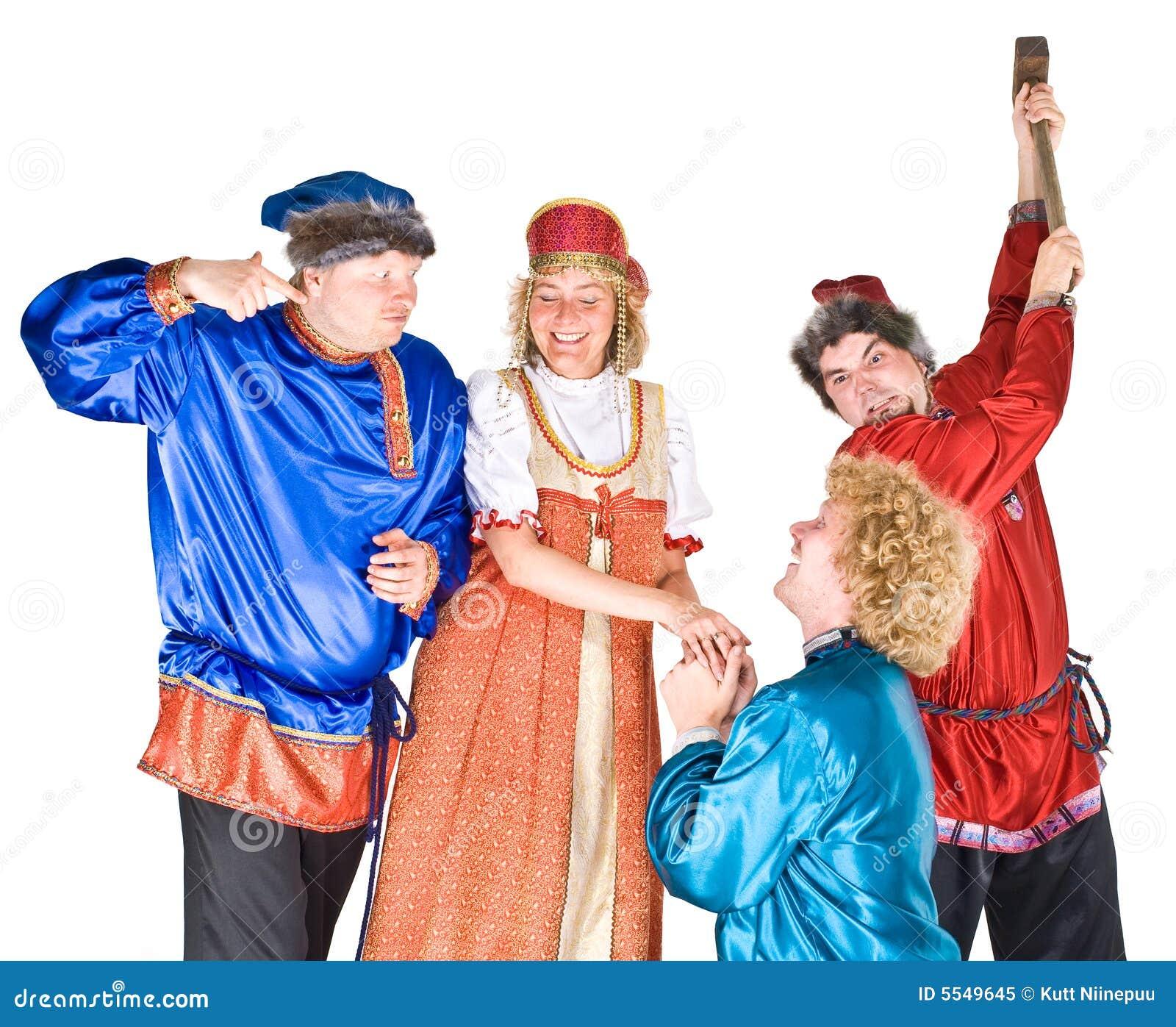 De karakters van het theater - suitors