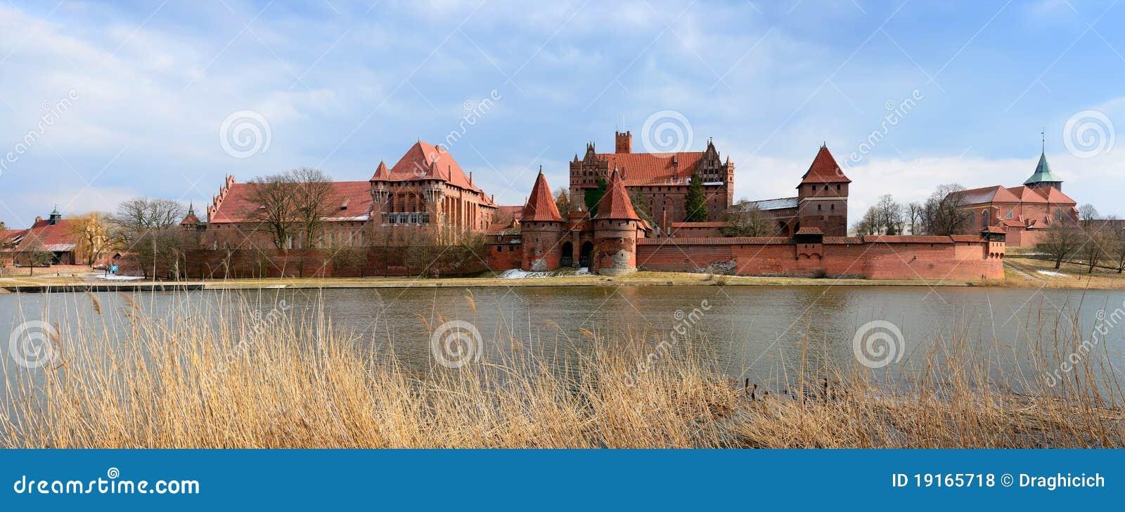 De kaste van Malbork in Polen