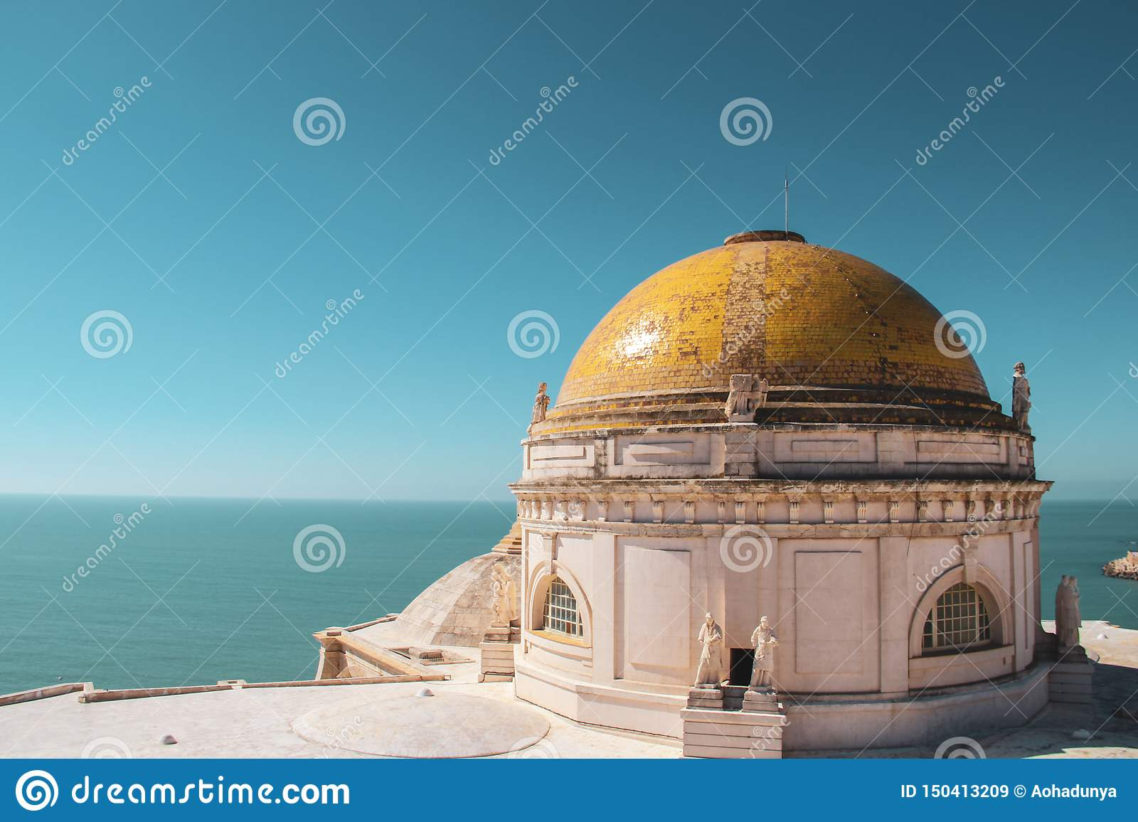De Kathedraal hoogste vloer van Cadiz in Cadiz, Spanje