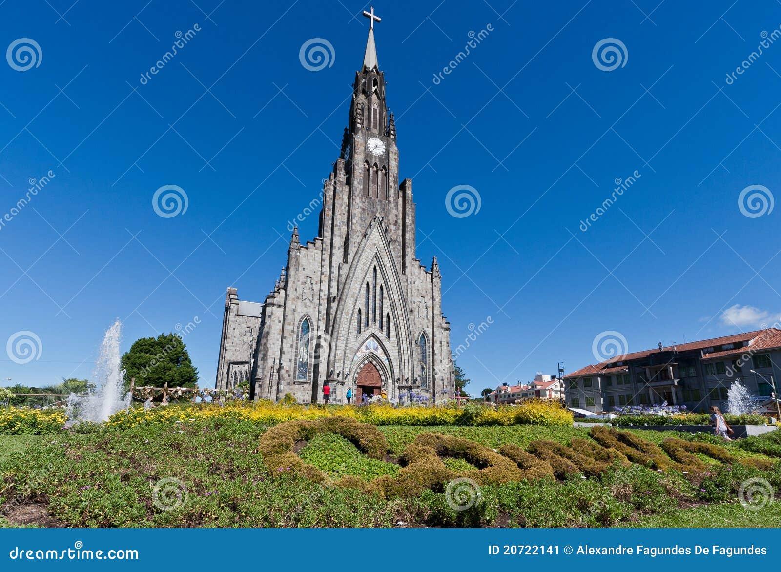 De Kathedraal van de steen van Canela Brazilië