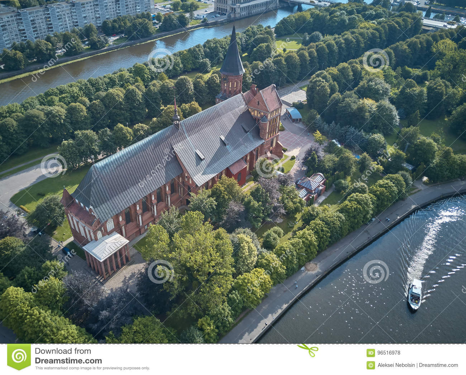 De Kathedraal van Konigsberg Kaliningrad, vroeger Koenigsberg, Rusland