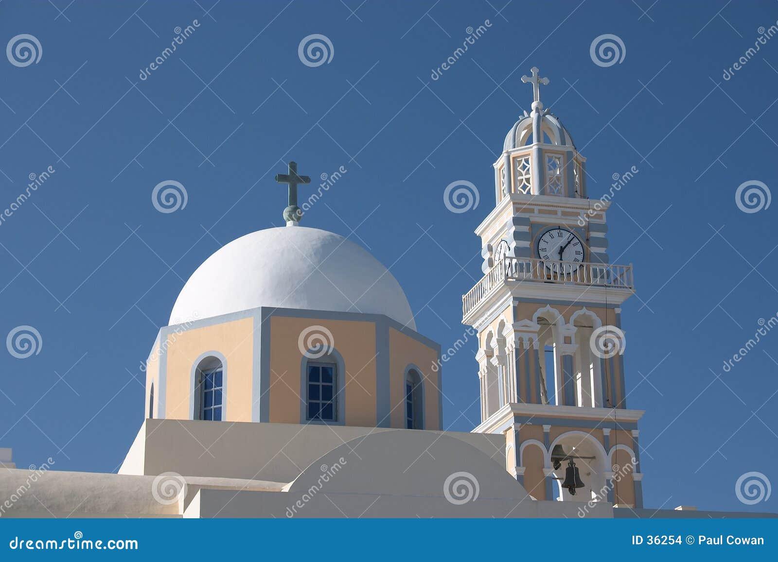De katholieke kathedraal van Fira