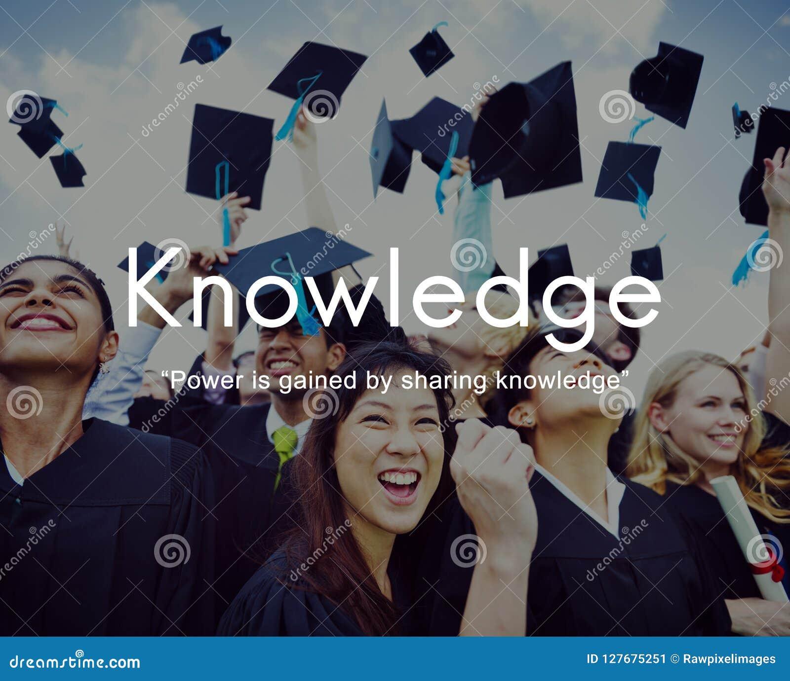 De kennis leert het Grafische Concept van Onderwijsmensen