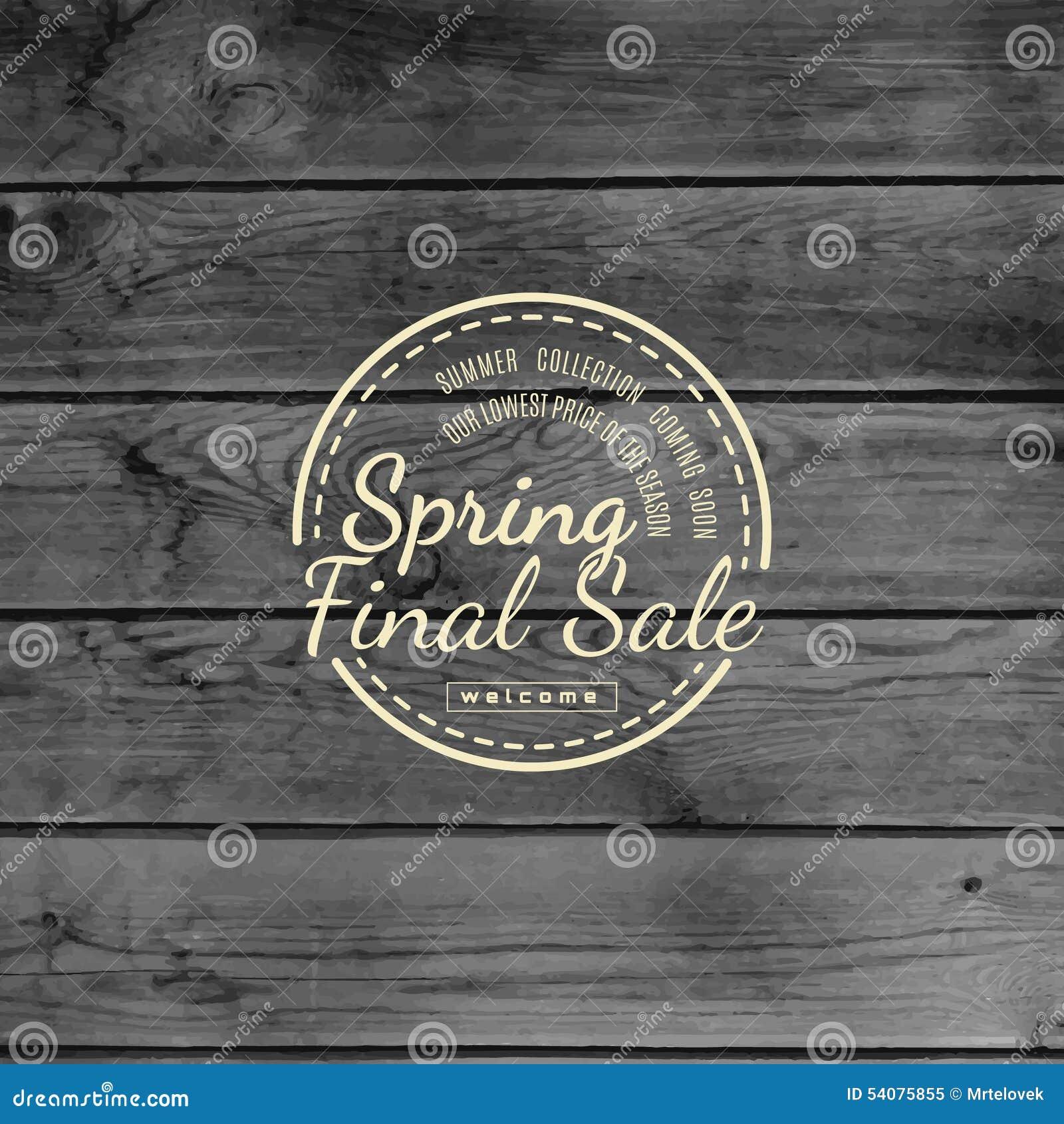 De kentekensemblemen en etiketten van de de lenteverkoop voor om het even welk gebruik