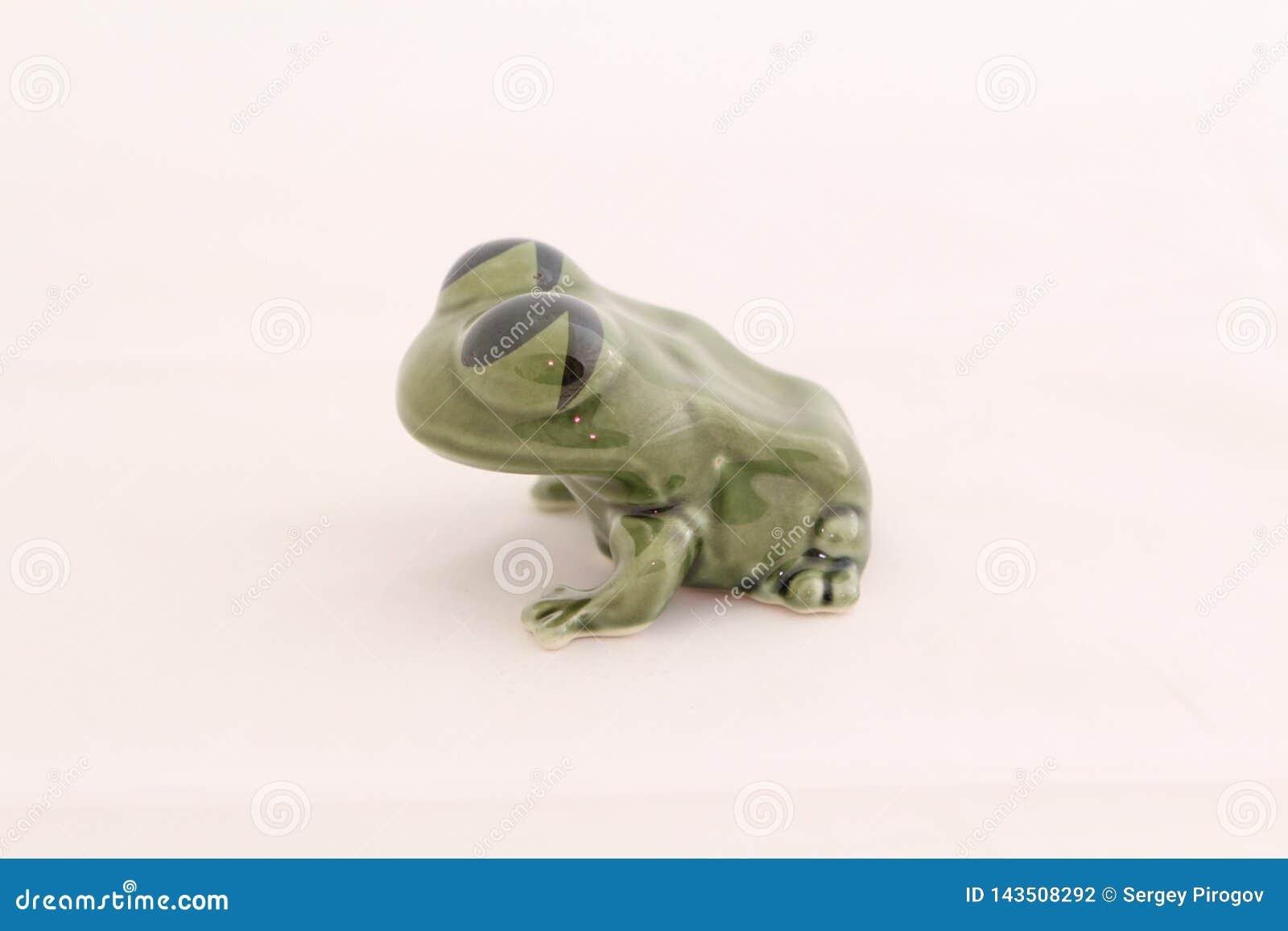 De keramiek van het kikkerbeeldje