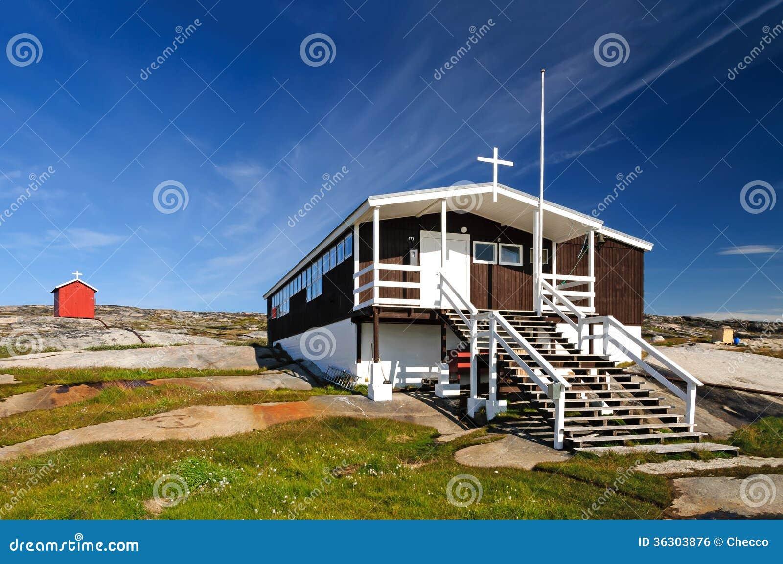 De kerk (en school) van Rodebay