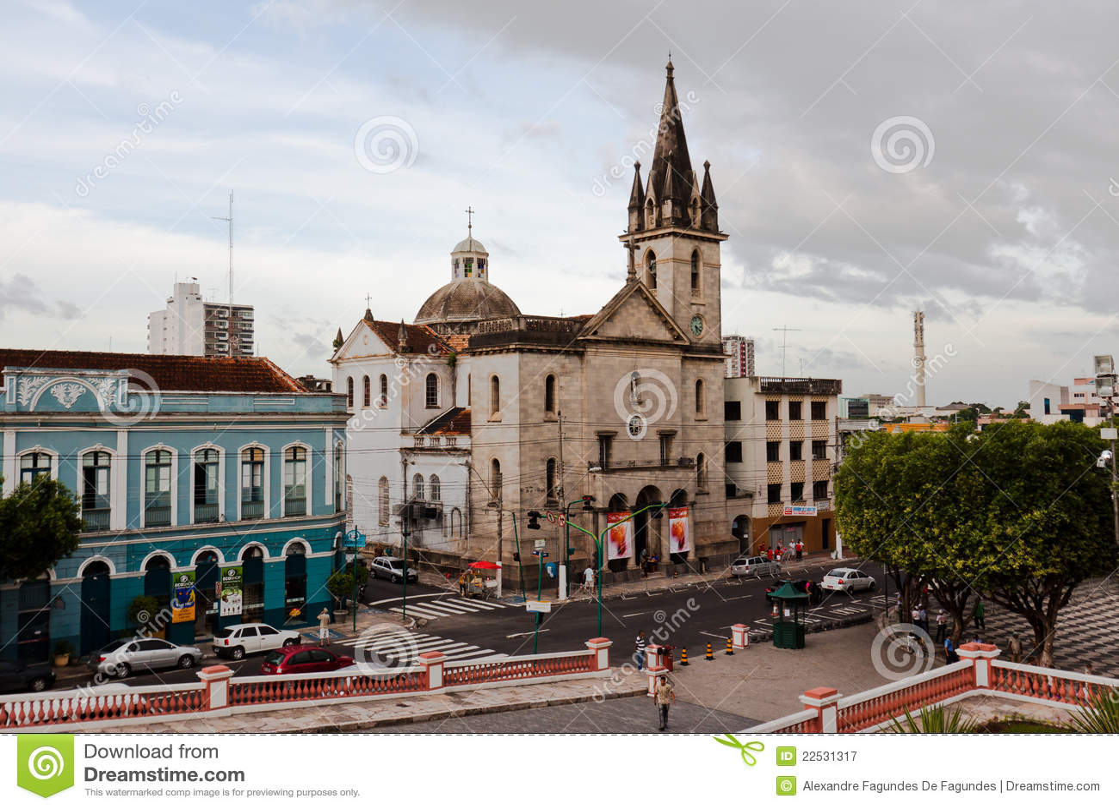 De Kerk Manaus Brazilië van San Sebastian