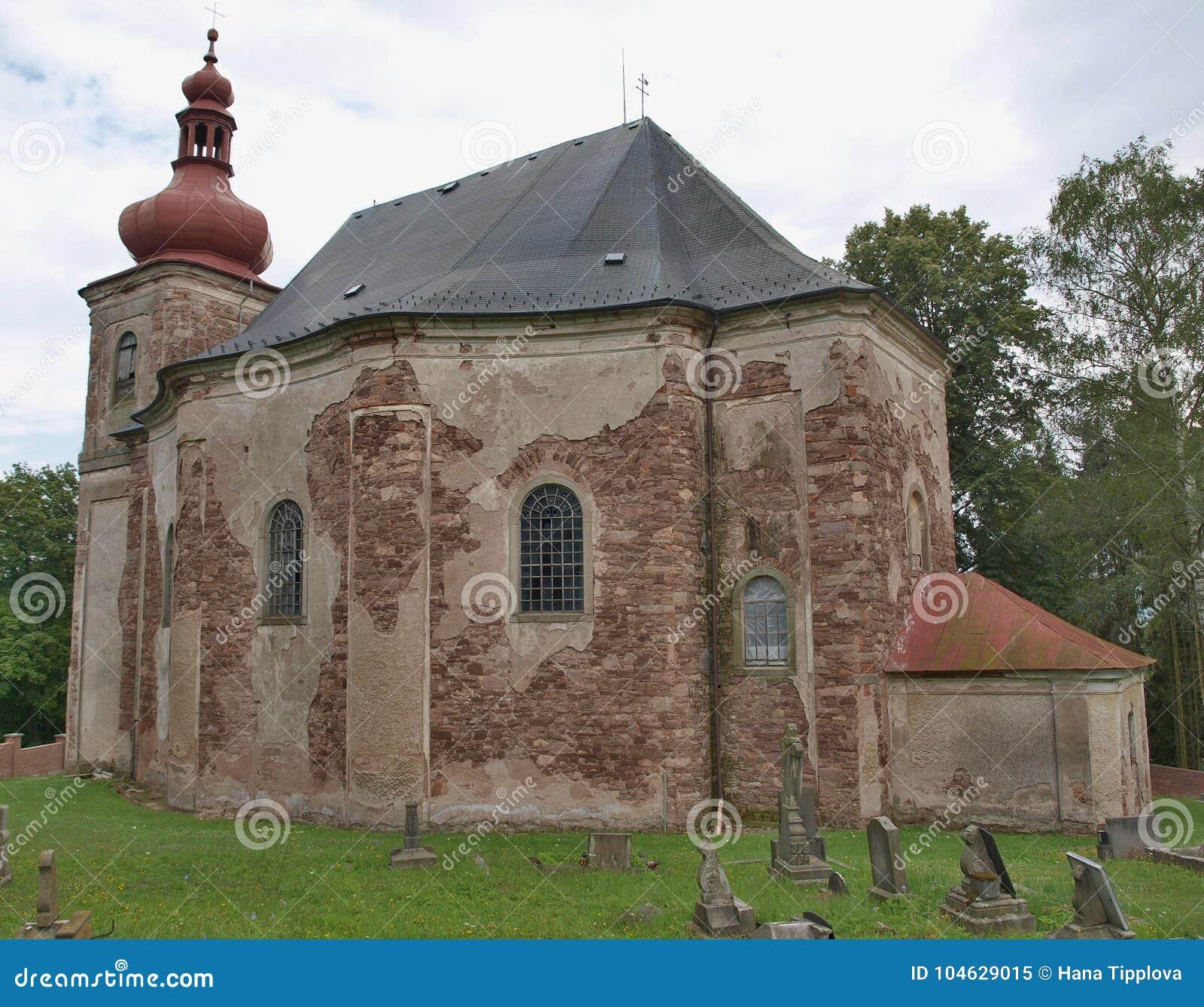 Download De Kerk Van Alle Heiligen Is Een Rooms-katholieke Kerk In Hermankov Stock Afbeelding - Afbeelding bestaande uit architectuur, allen: 104629015