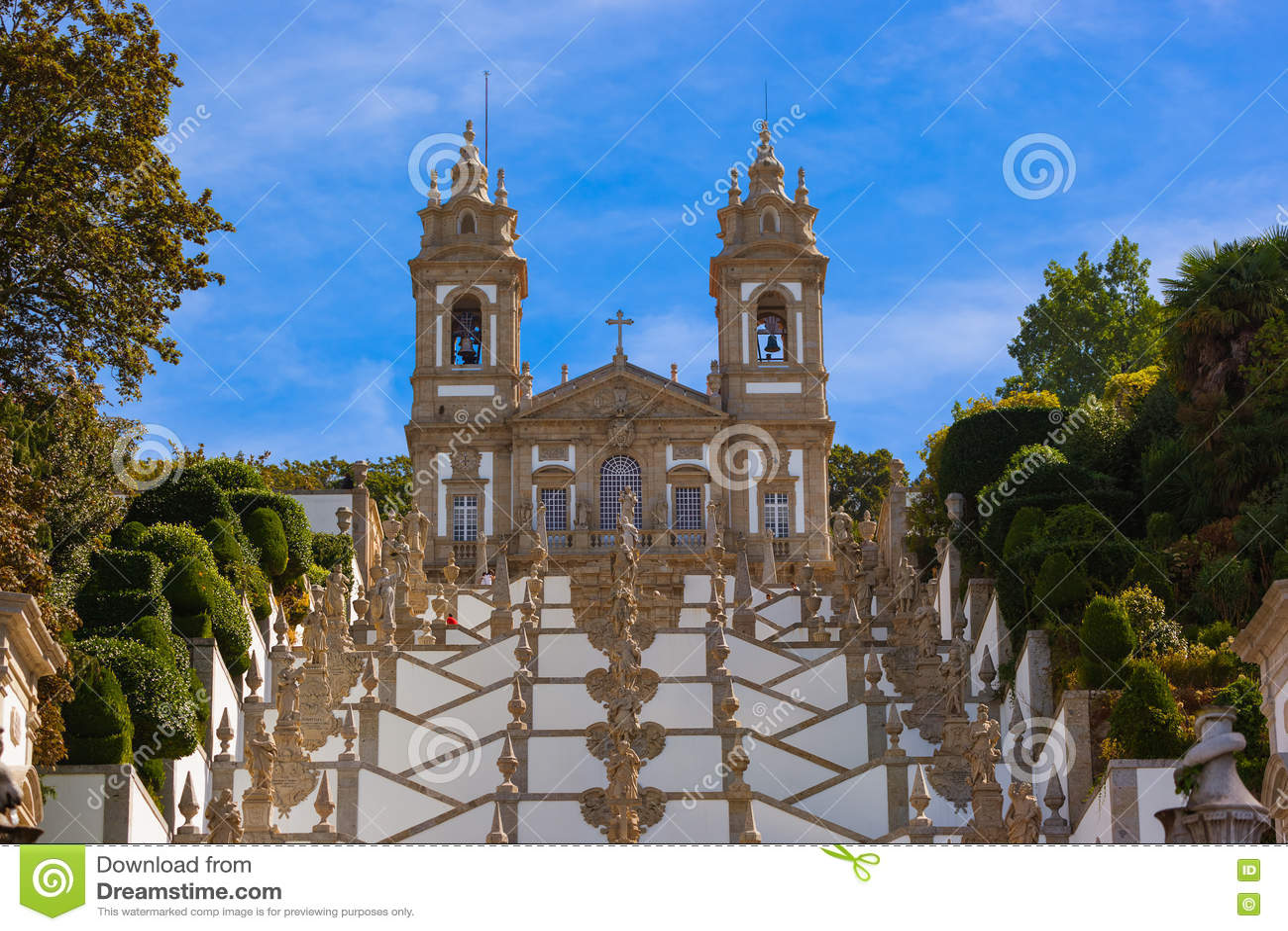 De kerk van Bomjesus in Braga - Portugal