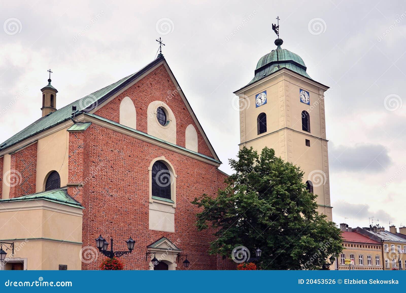 De kerk van Fara in Rzeszow