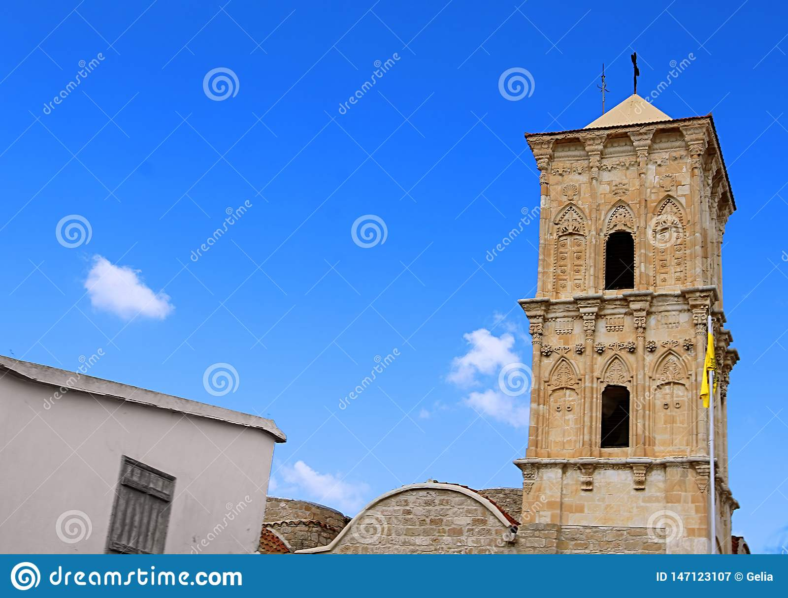 De Kerk van Heilige Lazarus, een de recent-negende eeuwkerk in Larnaca, Cyprus Het behoort tot de Kerk van Cyprus, autocephalous