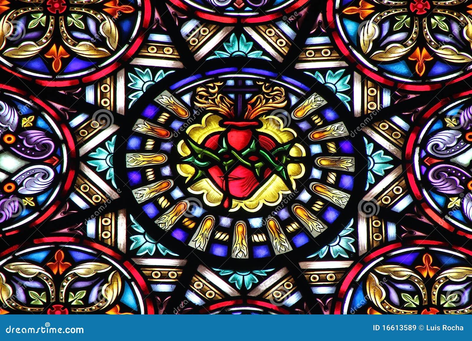 De kerk van het gebrandschilderd glas