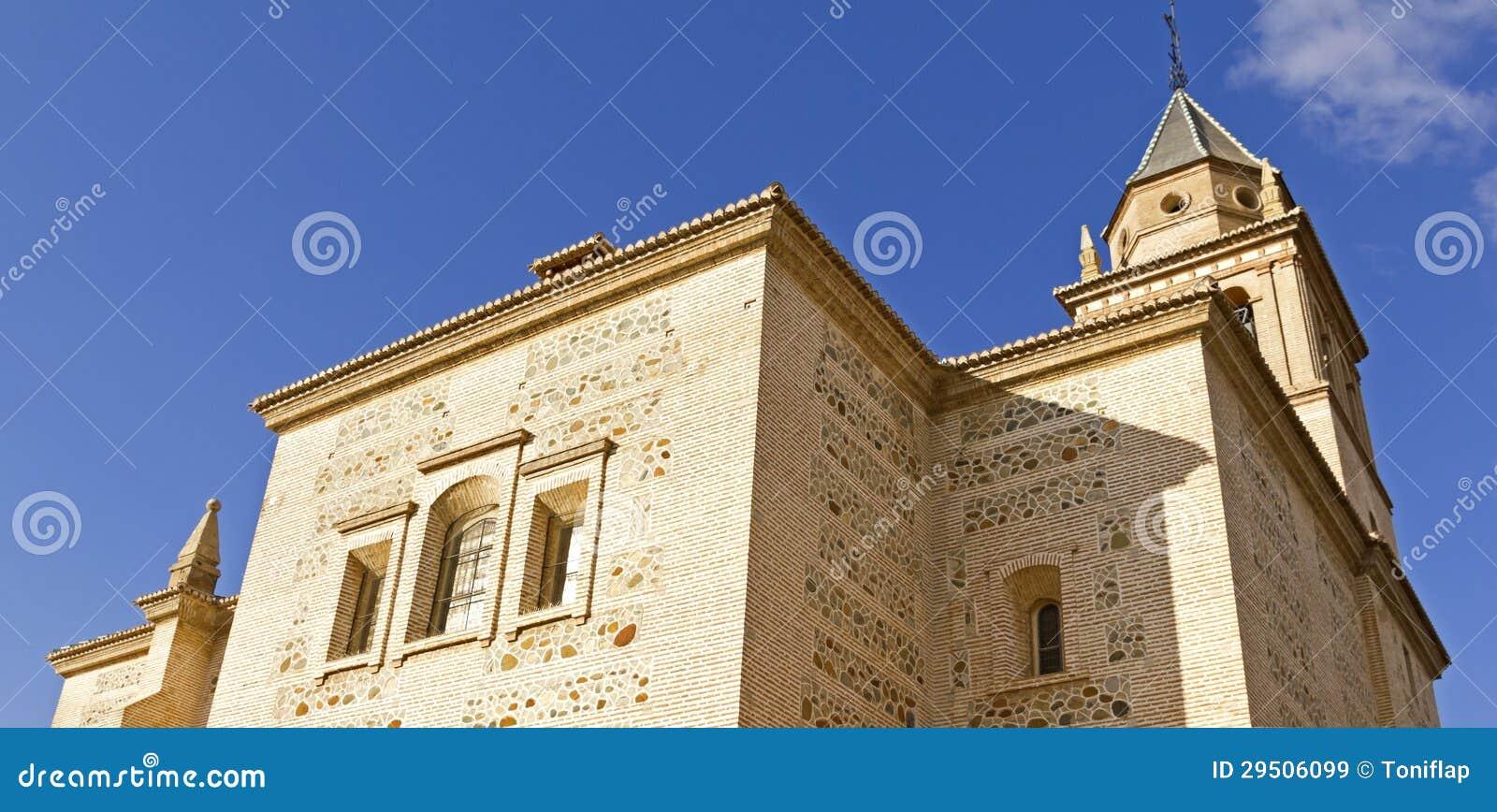 De kerk van Santa Maria, Alhambra, Granada, Spanje
