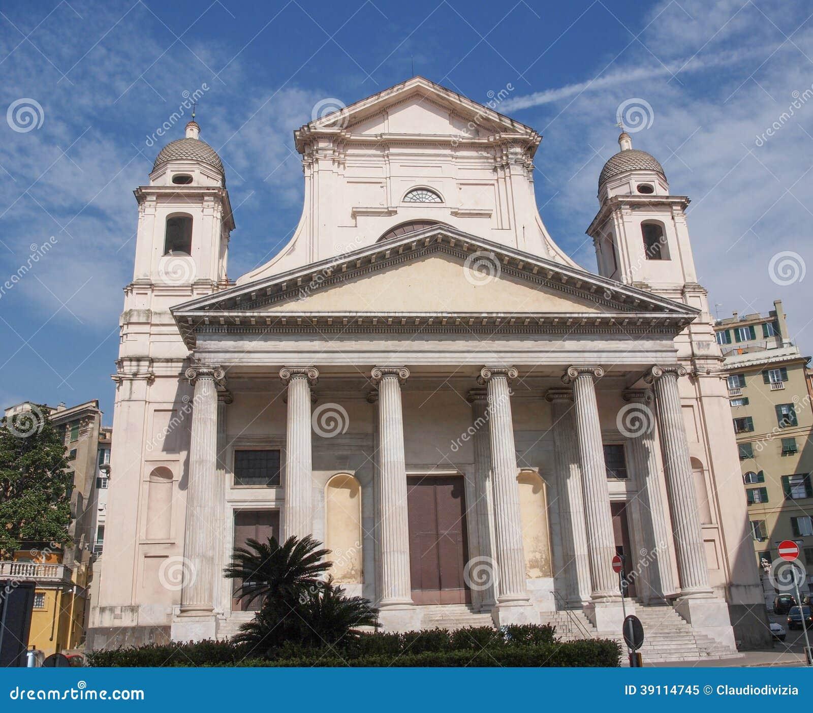 De kerk van Santissimaannunziata in Genoa Italy