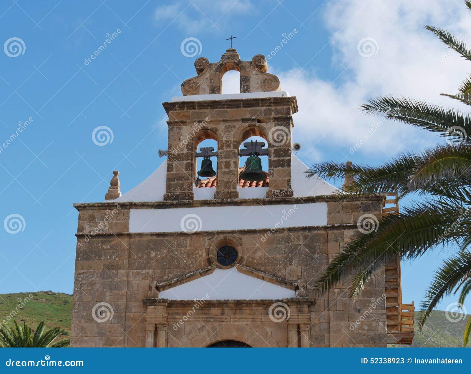 De kerk van Vega DE Rio Palmas op Fuerteventura