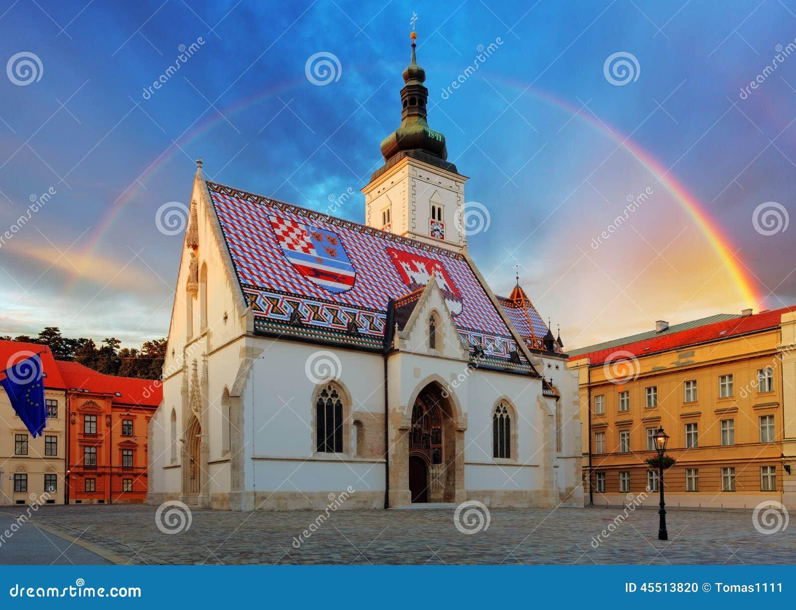 De kerk van Zagreb - St Teken
