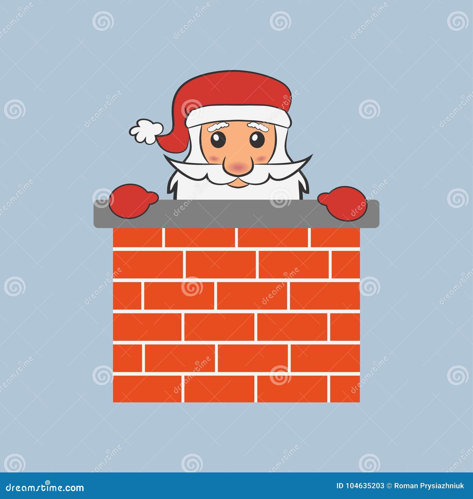 Download De Kerstman In De Schoorsteen Vector Illustratie Vector Illustratie - Illustratie bestaande uit element, december: 104635203