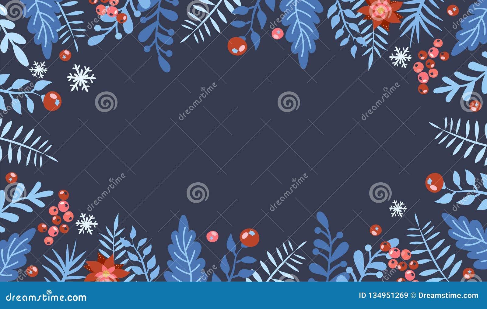 De Kerstmisvlakte legt ontwerp met giftdozen Kerstmis en nieuw jaarelement, affiche voor uw ontwerp Groot voor groetkaart, post