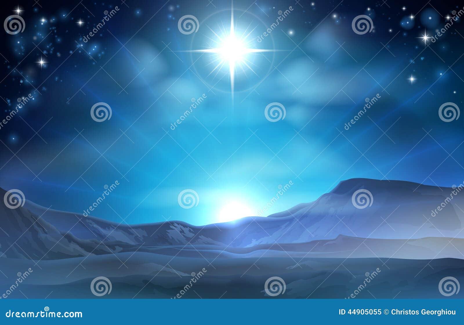 De Kerstster van de Kerstmisgeboorte van christus