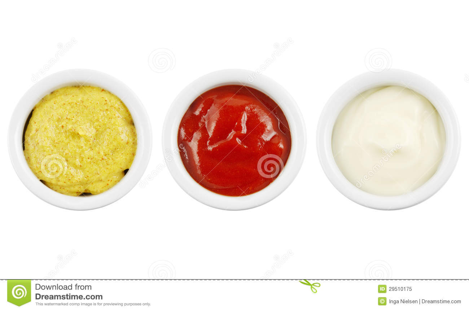 De ketchup en de mayonaise van de mosterd