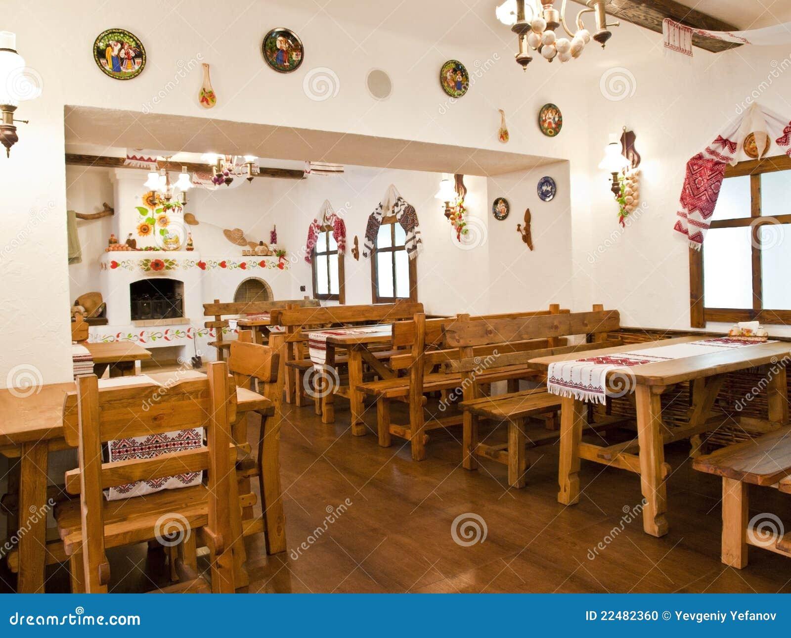 De keuken in de oude slavische stijl stock foto afbeelding 22482360 - Oude stijl keuken wastafel ...