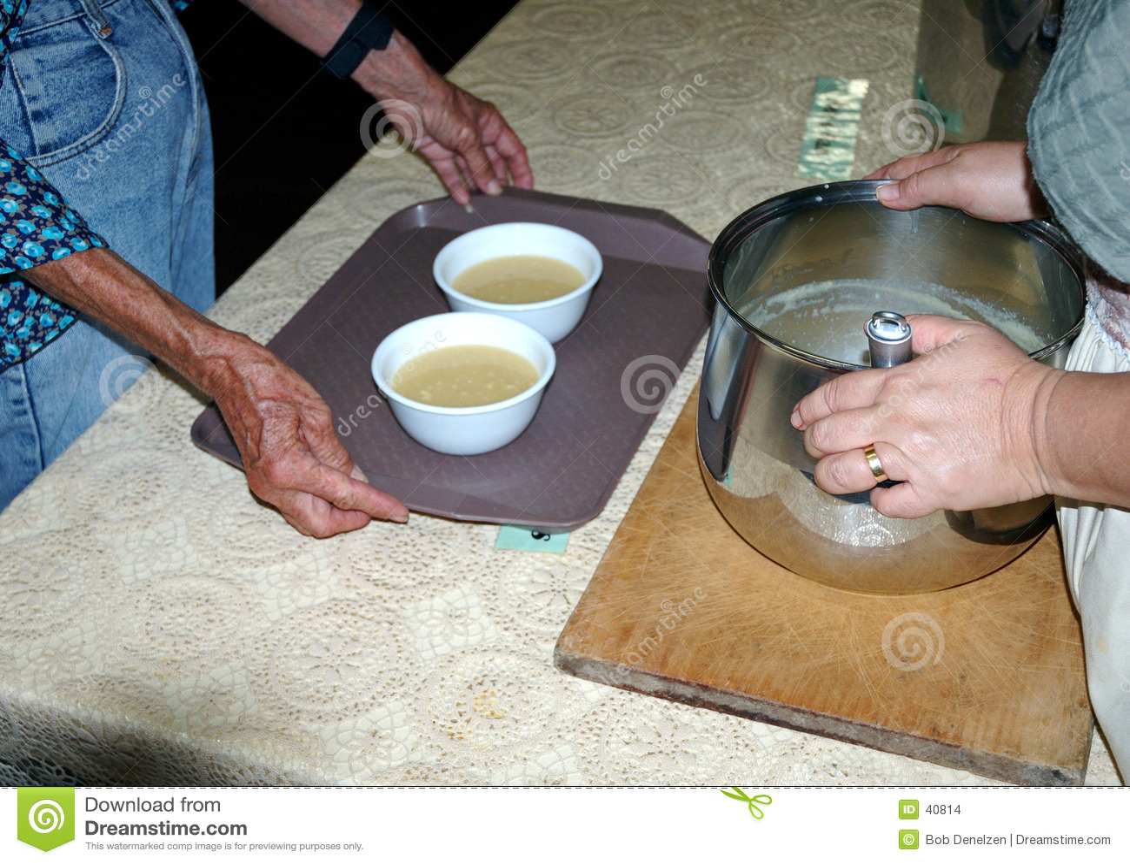 De keuken van de soep meldt zich 8 aan