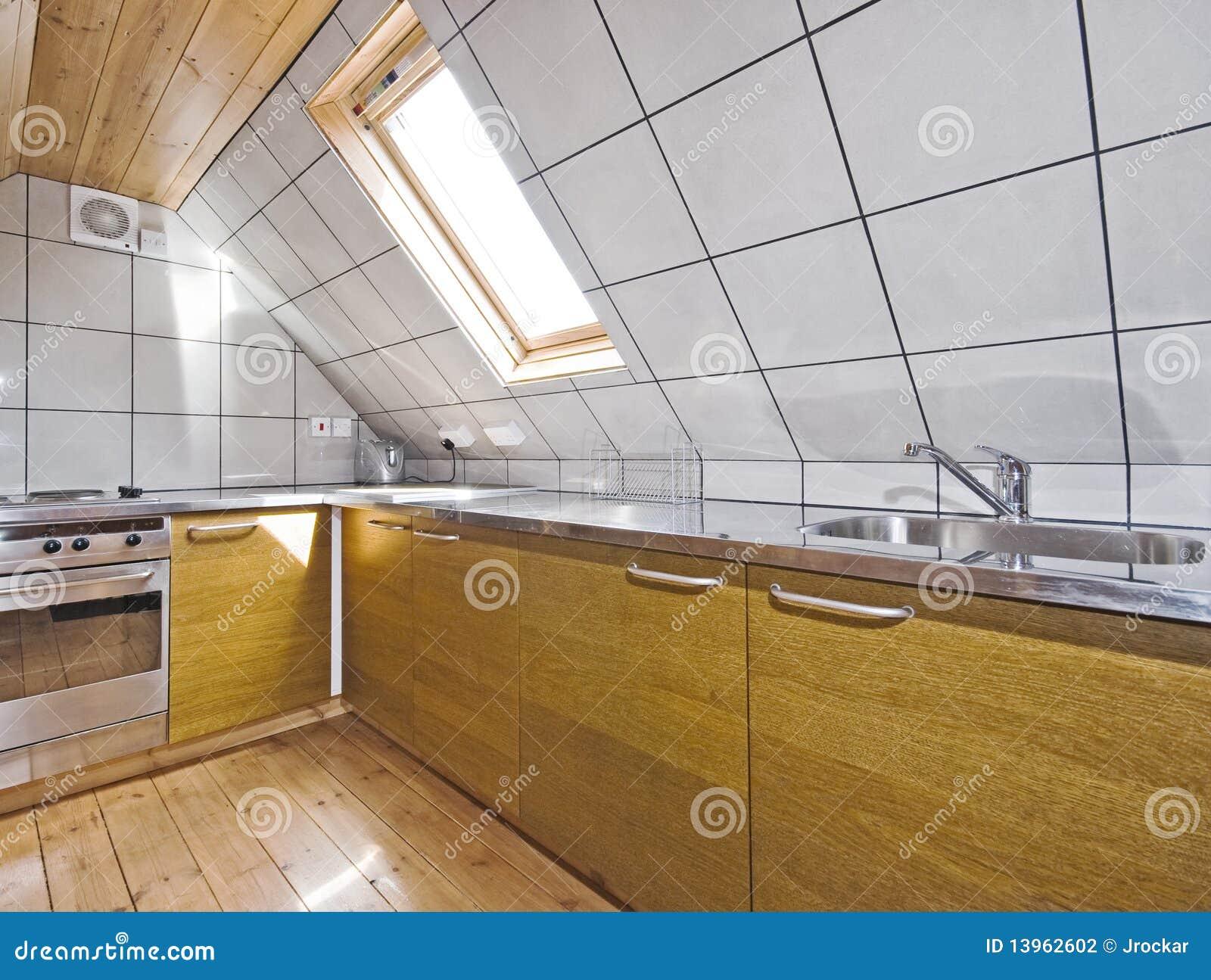 De keuken van de zolder stock foto afbeelding bestaande uit binnen 13962602 - Uitbreiding van de zolder ...