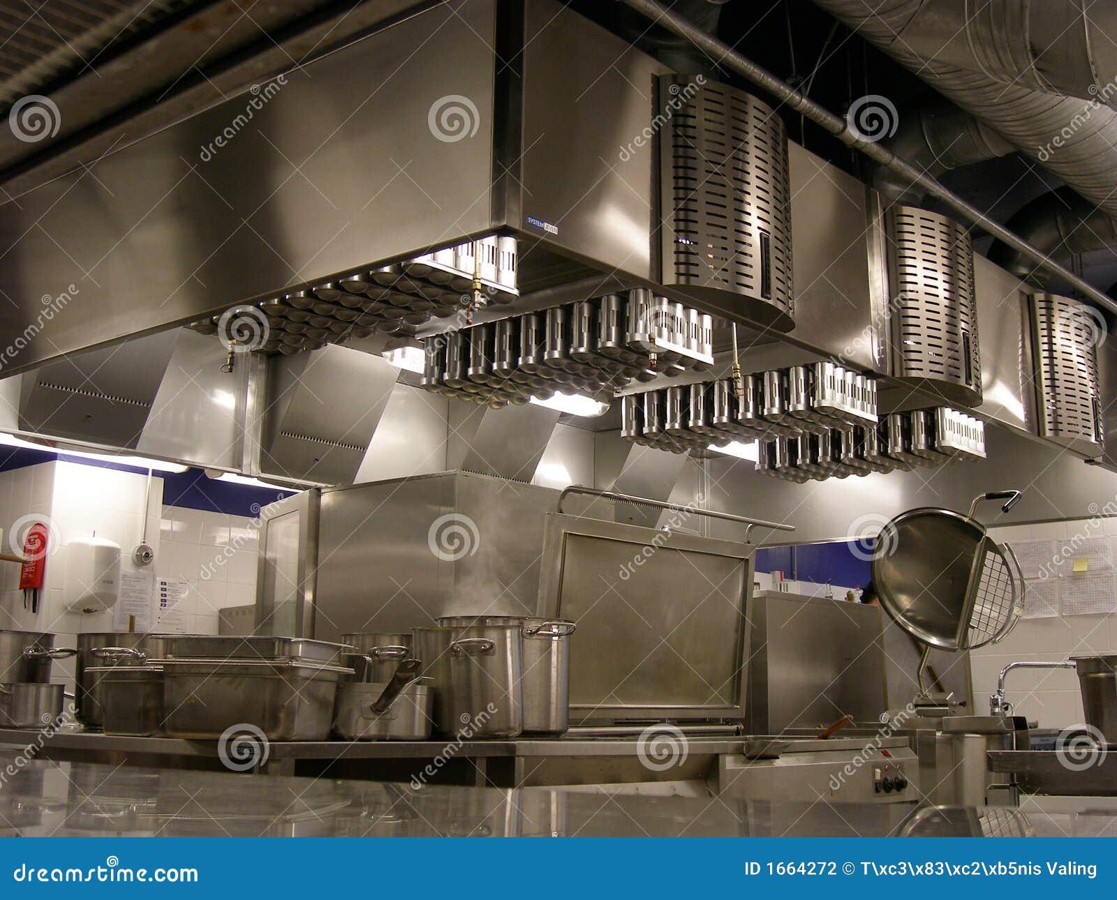 De keuken van het restaurant
