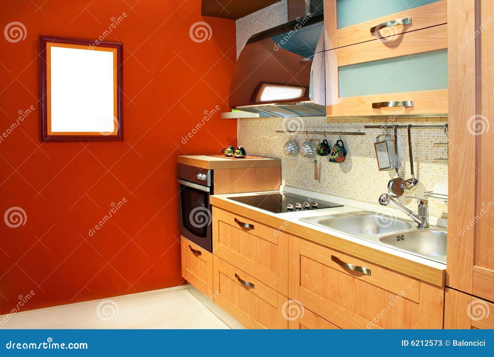 De keuken van het terracotta stock afbeelding afbeelding 6212573 - Fotos van keuken amenagee ...