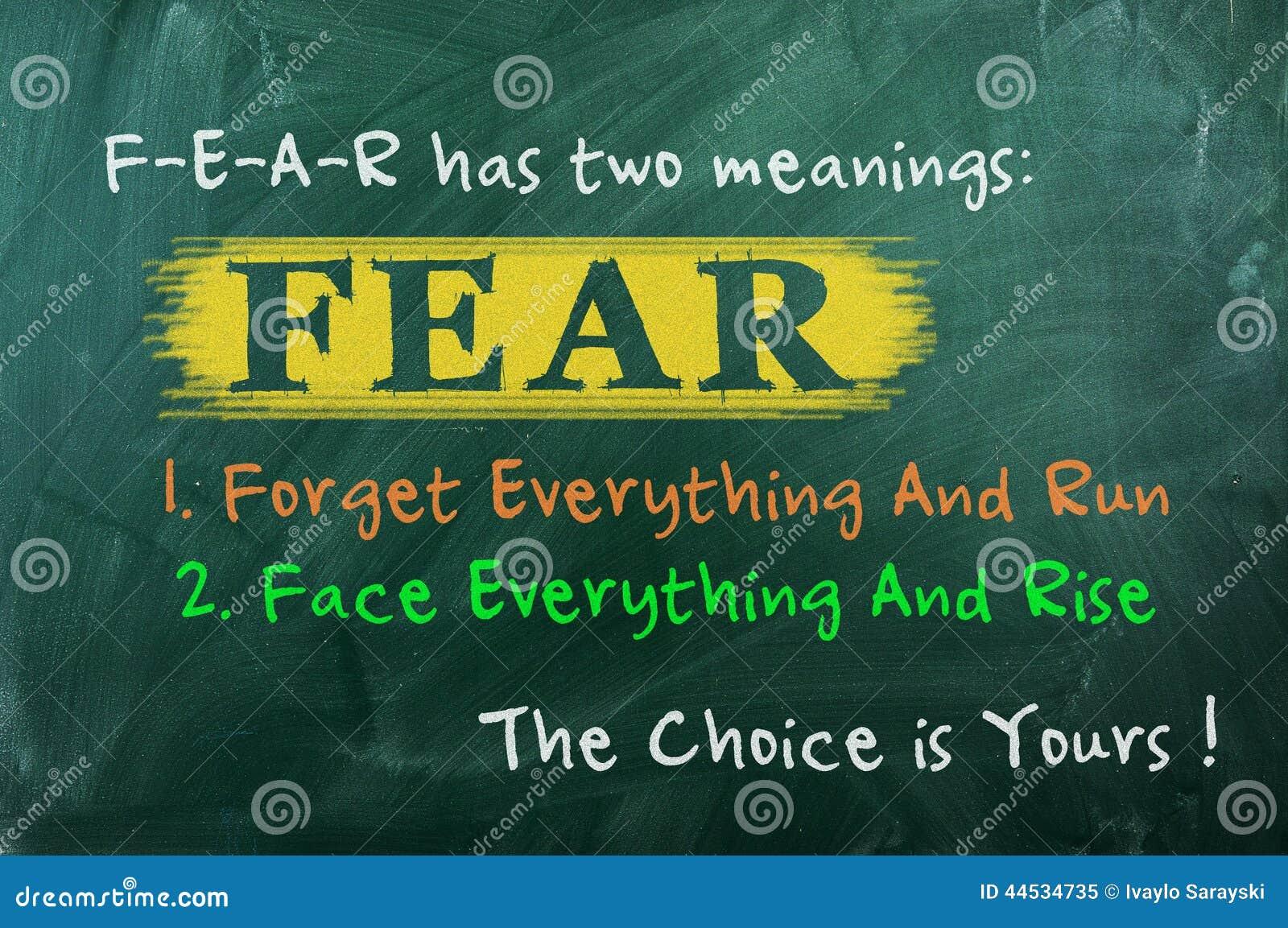 De keus van het vreesconcept